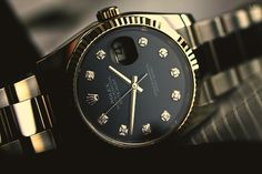 Black dial gold -Rolex Date Just