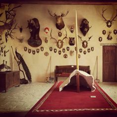Trophies Room in Rivau Castle
