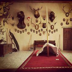 Trophies Room in Rivau Castle