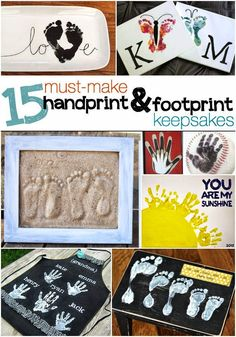 Helping Kids Grow Up: 15 Must Make Handprint And Footprint Keepsakes