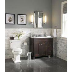 allen + roth Palencia Espresso Contemporary Bathroom Vanity | Lowe's Canada: