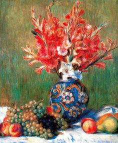 Pierre Auguste Renoir (1841-1919). Still life of Fruits and Flowers, 1889.