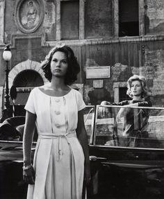 """Lea Massari & Monica Vitti """"L'Avventura"""", Michelangelo Antonioni, 1960, Costume Designer: Adriana Berselli."""
