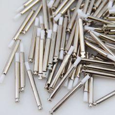 100Pcs Dental Latch Flat Type White Nylon Teeth Polishing Prophy Brush #Shaind2014