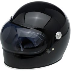 Biltwell Gringo S Bubble Shield - Smoke — Retro inspired injection-molded polycarbonate shields in solid, gradient and reflective finishes. Universally fits all Gringo S helmet sizes. 1 stainless steel snap secures the shield while in the down position. UV Tested: Gringo S Bubble Shields are UV rated at UV +50 with over 92% UVA block and over 99% UVB block. Shields were evaluated for UV resistance as per test method AATCC 183.