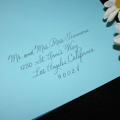 Wedding Calligraphy Envelope Addressing, Social Handwriting