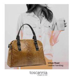 Urban Road leather handbag by Toscannia www.toscannia.com
