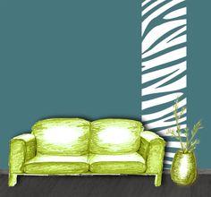 Senkrechtbordüre: Zebra-Steifen 1 • Mein Bordürenladen - DaWanda