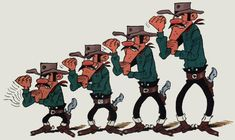 The Dalton Brothers in the Lucky Luke series