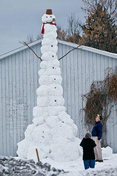 Snowman in Bozeman