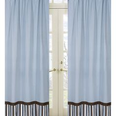 Sweet Jojo Designs, Brown and White 84-inch Window Treatment Curtain Panel Pair for Starry Night Collection