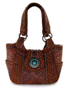 Montana West Medium Purse, Trinity Ranch Belt Collection, Brown, NEW Shoulder Handbags, Shoulder Bag, Sew Wallet, Concealed Carry Purse, Large Tote, Laptop Bag, Hobo Bag, Purses And Bags, Leather
