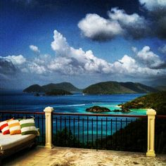 View from Hawksview Estate St John USVI