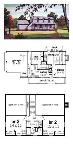 1000 images about saltbox house plans on pinterest decks saltbox houses and full bath - Three family house plans cost efficient choices ...
