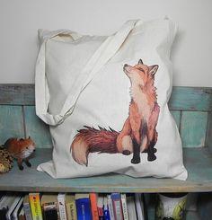 Fox sac Eco Illustration  100 % coton manches par LyndseyGreen