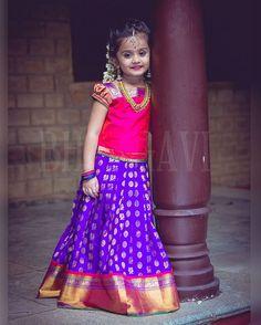 Having a busy day at work already? Take a break and enjoy this little beauty . A range of Kanjeevaram sarees and pattu parikinis now at Bhargavi Studio . Little Tamasi photographed by @lenskumar  #kanchipattulanga #telugammai #telugutraditions #pattuparikini #puresilk #indianweaves #kidswear #indiantraditional #beautifulcolors #handloomlove #handwovenmagic #kidsofinstagram #kidsfashion #kidsstyle #indiantextiles #bhargavikunam #bhargavistudio