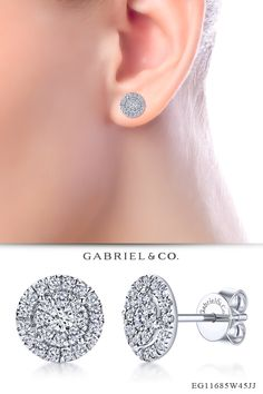 0.48 Ct Round Cut Simulated Diamond Triangle stud Earrings 14K White Gold Over