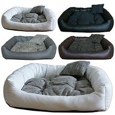 Aus der Kategorie Betten  gibt es, zum Preis von EUR 39,90  - Stylisches Hundebett aus Kunstleder - Besonders robust und kratzfest - Größe: S, M, L, XL, XXL - Farbe: Schwarz, Grau, Braun, Weiß - Aussenmaterial: Kunstleder+Baumwolle - Die Rückseite des Kissens besteht aus Polsterstoff - Füllung: Polyesterwatte - Innekissen können heraus genommen werden und sind bei 40 % Waschbar - Hergestellt in der EU, Handgemacht - Klein Kissen als Geschenk dabei Bitte beachten: Leichte Farbabweichungen…