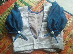 Yellow and pink check saree Lengha Blouse Designs, Saree Jacket Designs, Cutwork Blouse Designs, Simple Blouse Designs, Stylish Blouse Design, Blouse Neck Designs, Saree Blouse, Designer Blouse Patterns, Kurti Designs Party Wear