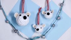 Add some wildlife fun to your holiday tree with these fuzzy polar bear baubles.