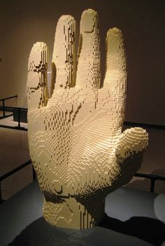 The Art Of The Brick - Giant Hand Lego Creation