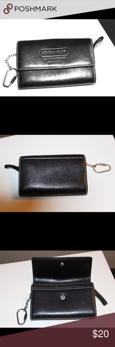 Authentic Coach leather coin purse Used leather coach coin purse. Has a few marks on it but a lot of years left in it. Coach Bags Wallets