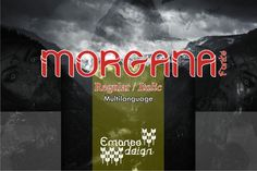 Morgana is inspired by mystery magazines and horror films. It will add a weird and kooky spark to any design. Best Script Fonts, All Fonts, Slab Serif Fonts, Premium Fonts, Cricut Design, Design Projects, Improve Yourself, Neon Signs, Horror Films