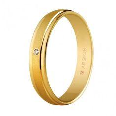 Alianza con diamante boda oro marca Argyor 5140044D