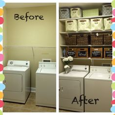 beautiful and simple small laundry room decorating ideas to copy 35 ~ mantulgan. Small Laundry Rooms, Laundry Room Organization, Laundry Room Design, Small Rooms, Design Kitchen, Small Spaces, Laundry Closet Makeover, Laundry Room Remodel, Laundy Room