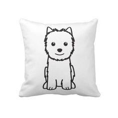 Norwich Terrier Dog Cartoon Pillows