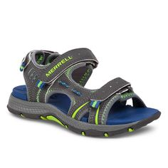 ddc7830bd7ce Merrell Little Boys  or Toddler Boys  Panther Sandals - Grey Blue 12