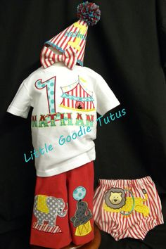 Circus Birthday Outfit 5 pieces Smach Cake event set included