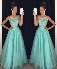 Mint Green Prom Dresses,Backless Evening Gowns,Sexy Formal Dresses,Beaded Prom Fashion Evening Gown,Open Backs Evening Dress - Sexy Formal Dresses, Long Formal Gowns, Open Back Prom Dresses, A Line Prom Dresses, Elegant Dresses, Beautiful Dresses, Party Dresses, Dress Party, Dress Long