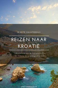 Ben je op zoek naar een goedkope vakantiebestemming in Europa en heb je Spanje, Italië en Griekenland inmiddels wel gezien? Boek dan via Holidayguru een voordelige reis naar Kroatië. Laat je verrassen door het helderblauwe water, de uitgestrekte stranden en de interessante historie van Kroatië. To Go, Places To Visit, Wanderlust, Europe, Camper, Travel, Outdoor, Life, Croatia