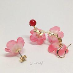 *梅の花のピアス*|ピアス|yuu119i|ハンドメイド通販・販売のCreema