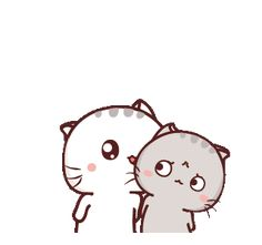 LINE Creators' Stickers - Wen small meow 9 Example with GIF Animation Love Cartoon Couple, Cute Love Cartoons, Cute Cat Illustration, Happy Valentines Day Images, Cute Cartoon Pictures, Cute Love Gif, Cartoon Gifs, Line Sticker, Kawaii Drawings