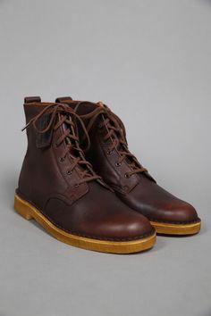 clarks originals : desert mali rust leather