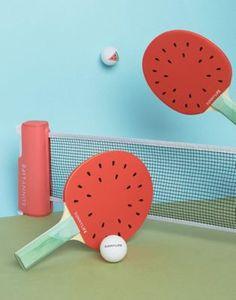 Sunnylife – Watermelon – Tischtennis-Set