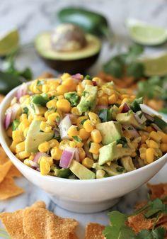 Avocado-Corn Salsa.