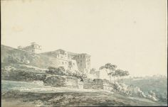 The Vatican, The Wall of the Giardino della Pigna and Belvedere, 1796-97. Joseph Mallord William Turner.