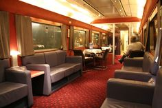 The lounge car on the Caledonian Sleeper to Scotland very comy love it in the lounge