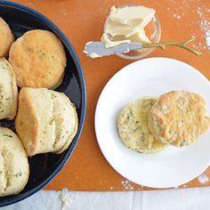 Vegan Flaky Buttermilk Herb Biscuits