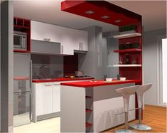 30 Styles Perfect for Your Tiny Kitchen Kitchen Room Design, Modern Kitchen Design, Home Decor Kitchen, Interior Design Kitchen, Kitchen Furniture, Bar Kitchen, Kitchen Colors, Kitchen Ideas, Modern Design