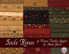 Icicle Kisses by Kansas Troubles Quilters for Moda Fabrics, available in pre-cuts and yardage at Fat Quarter Shop