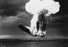"""81 years ago today: Left side view of the German airship Zeppelin LZ 129 """"Hindenburg"""" burning at Lakehurst New Jersey May 6 In this photo the rear half of the ship is on fire but the ship is still above the ground; nose is pitched sharply upwards. Ansel Adams, Engineering Disasters, Nova Jersey, Oh The Humanity, Motor Diesel, Equador, Modern History, Women's History, Thats The Way"""