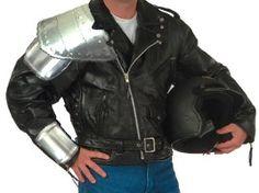 black steel shoulder armour