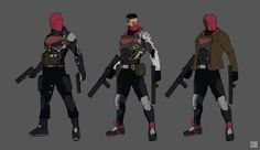 Red Hood- Art Station by James Choe Red Hood Jason Todd, Jason Todd Batman, Damian Wayne Batman, Dc Comics Art, Marvel Dc Comics, Comic Character, Character Design, Batman Redesign, Batman Art