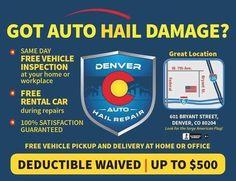 #DenverAutoHailRepair #paintlessdentrepair #Denver #Colorado #Hailco #automotive #dentrepair #haildamage #repair