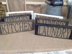 Printed burlap sign by CreativeCaterpillar on Etsy, $16.00