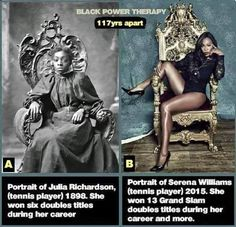 Black female tennis stars, 100+ years apart
